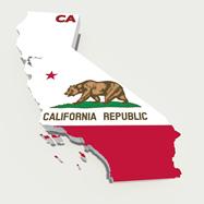 California flag shaped like state