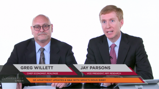 RealPage Chief Economist Greg Willett, MPF Research and Vice President Jay Parsons discuss Strength In Apartment Market