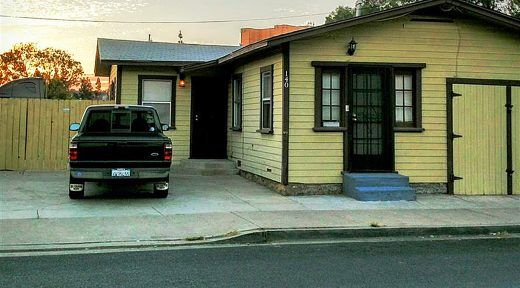 The front of an El Cajon apartment triplex, 130, 140 and 150 Roanoke Road