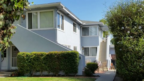 Front entrance of Ocean Beach multifamily property sold