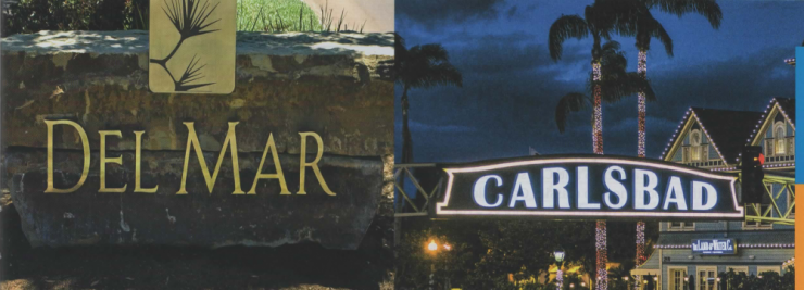 Del Mar and Carlsbad Welcome Signs