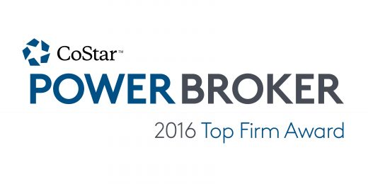 2016 CoStar Power Broker Award for Top Sales Firm